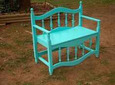 Gartenbank Bench made from bed frame Perhaps one of the most difficult dilemmas associated with Chri Refurbished Furniture, Repurposed Furniture, Furniture Makeover, Painted Furniture, Handmade Furniture, Bed Frame Bench, Diy Bench, Old Headboard, Headboard Benches