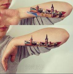 Pin for Later: 32 Skyline-Tattoos, die beweisen: Zuhause ist, wo dein Tattoo ist Stockholm