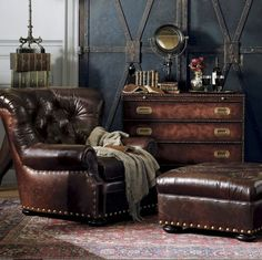 furniture-meubles:  Ralph Lauren Collection by E.J. Victor Furniture.  Gentleman's Getaway.