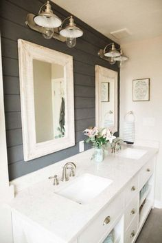 Gorgeous Farmhouse Bathroom Decor Ideas 052