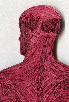 Paper quilling - Quilled Anatomy by Sarah Yakawonis