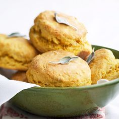 A mashed sweet potato keeps these biscuits tender and moist.