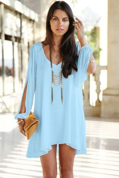 nice С чем носить шикарное голубое платье? (50 фото) — Длинные и короткие модели Читай больше http://avrorra.com/goluboe-plate-foto/