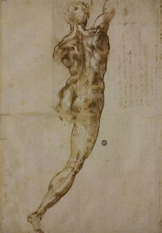 """Renaissance: Of course I had to throw some Michelangelo in there! """"Michelangelo, Study for """"Battle of Cascina,"""" Caravaggio, Life Drawing, Painting & Drawing, Cave Painting, Michelangelo Artist, Photos Corps, High Renaissance, Renaissance Image, Drawing Process"""