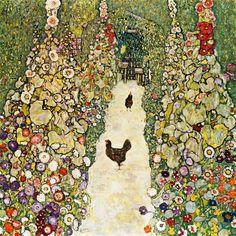Garden Path with Chickens, 1916 by Gustav Klimt - art print from King