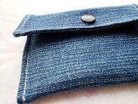 Crafty Gemini: Upcycled denim coin purse/card holder
