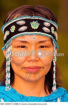 Yupik Woman In Native Costume At The Alaska Native Heritage Center Anchorage Alaska Anchorage Alaska, Heritage Center, First Nations, Image Photography, Arctic, Tribal Tattoos, Royalty Free Photos, North America, Captain Hat