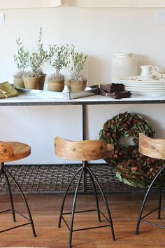 25 Sleek Industrial Furniture Finds - Decoist   Great barstools