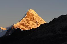 Artesonraju 19500ft - Cordillera Blanca Peru (slightly different perspective of the mountain in the paramount logo) #outdoors #nature #sky #weather #hikin