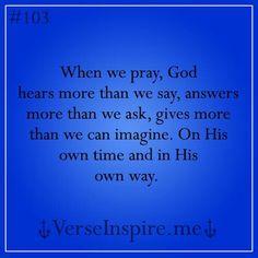 Prayer is Powerful. .