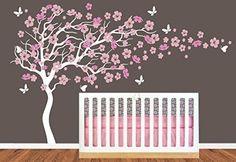 Chambre d'enfant Grand arbre en fleur de cerisier avec prénom Art Decals Sticker mural autocollant mural pour la Salon Bébé Chambre K84 tellMeo http://www.amazon.fr/dp/B013W94XQC/ref=cm_sw_r_pi_dp_7fmqwb0SRH2AY