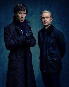 #Sherlock #BenedictCumberbatch   Benedict Cumberbatch(Sherlock) & Martin Freeman(John)