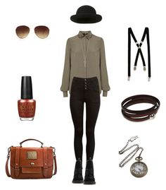 Everyday steampunk by shortcuttothestars on Polyvore featuring Warehouse, Dr. Martens, Jack Wills, Bohemia, Forever 21, Topshop, River Island, OPI, steamunk and casual