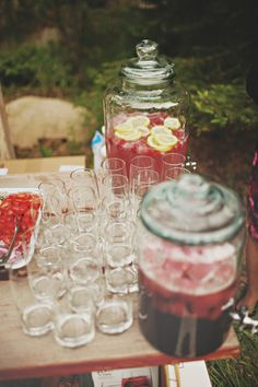 Personalized punch...this is a must-have at my wedding AND wedding shower...I absolutely LOVE punch!!!