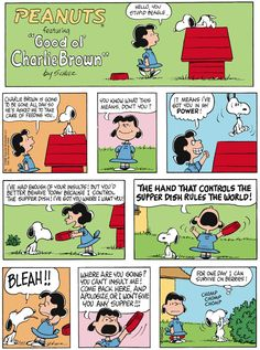 Classic Peanuts 4/12/15 - Originally appeared 4/15/68