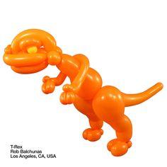 Orange entries Balloon T-Rex Rob Balchunas    Los Angeles, CA, USA