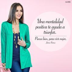 Feliz semana. Vive, sé positiva y triunfa DUPREE Colombia Sweaters, Fashion, Happy, Frases, Positive Attitude, Get Well Soon, Colombia, Trends, Moda
