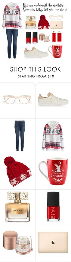 """""""Mistletoe"""" by rosana188 ❤ liked on Polyvore featuring Cutler and Gross, adidas Originals, Frame, WithChic, Givenchy, NARS Cosmetics, SK-II and Estée Lauder"""