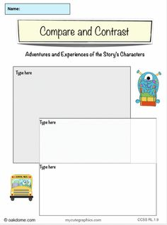 iPad Graphic Organizer - Compare and Contrast Adventures and Experiences of Characters (iPad Pages Template): http://oakdome.com/k5/lesson-plans/iPad-lessons/ipad-common-core-graphic-organizer-compare-and-contrast-adventures-and-experiences.php