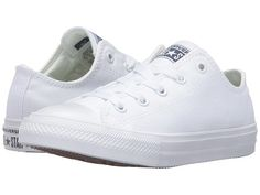 4c245e963280 Converse kids chuck taylor all star ii ox little kid white white navy