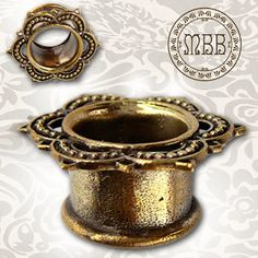 sophiebear's save of Antiqued Brass Lotus Tunnels Tribal Ornate Plugs 00g, Wanelo
