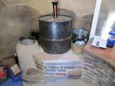 Rocket stove mass heater at CalEarth