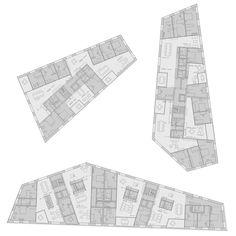 Dürig AG - New center development Schäfli, Goldach - - Cultural Architecture, Sacred Architecture, Education Architecture, Commercial Architecture, Architecture Plan, Residential Architecture, Office Floor Plan, Floor Plan Layout, Elevation Plan