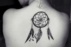 Forest Dream Catcher Tattoo On Back Shoulder photo - 1