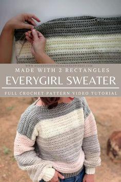 Pull Crochet, Mode Crochet, Crochet Baby, Knit Crochet, Caron Cakes Crochet, Crochet Toddler Sweater, Caron Cake Crochet Patterns, Diy Crochet Sweater, Easy Crochet Socks