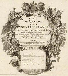 Carte du Canada ou de la Nouvelle France et des decouvertes que y ont ete faites; Guillaume de Lisle; 1708.