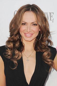 Karina Smirnoffs sexy, wavy hairstyle