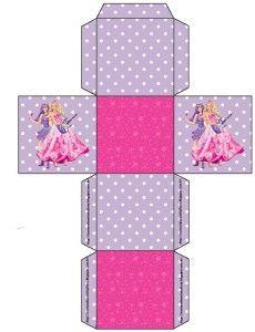 Barbie Princesa e a Pop Star Barbie Birthday, Barbie Party, Printable Box, Printables, Barbie Decorations, Yarn Crafts, Paper Crafts, Packing Boxes, Barbie Patterns