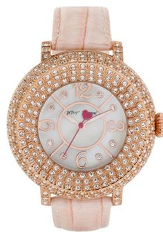 Free shipping and returns on Betsey Johnson Crystal Bezel Leather Strap  Watch 8dfc82ad0e