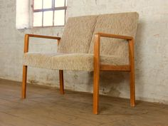 Mid Century Retro 2 Seater Club Sofa Bench Couch Chair Vintage 1960s 60s in Antiques, Antique Furniture, Sofas/Chaises | eBay