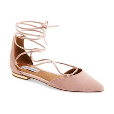 sunshine lace-up flat by Steve Madden. Gleaming hardware at the heel elevates a streamlined lace-up flat in a chic, d'Orsay silhouette w...