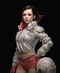 ArtStation - a girl , Qingyuan Xu 3d Character, Character Concept, Character Design, Z Photo, Beautiful Young Lady, Art Corner, Cg Artist, Warrior Girl, Art Station