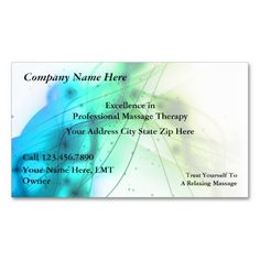 Shop Massage Business Cards created by Luckyturtle. Personalize it with photos & text or purchase as is! Spa Business Cards, Custom Business Cards, Business Card Design, Massage Business, Professional Massage, Massage Therapy, Company Names, Smudging, Things To Come