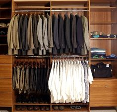 Good tips for building your suit wardrobe: here's a list of essentials, in order of preference (which should be purchased first, second, etc.) 1) Dark charcoal. Solid. Dark, but not black. 2) Navy. Solid. 3) Medium charcoal pinstripe. 4) Light grey (pinstripe, glen plaid, or solid) 5) Solid black. 6+) Anything you like, including sport coat - Via Beckettrob.com