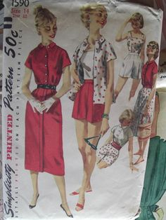50s Playsuit, Blouse, Shorts, Skirt, and Summer Top