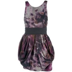 ALICE+OLIVIA MARIE TUMP SKIRT DRESS BERRY POLYESTER/ACRYLIC/POLYAMIDE... ($570) ❤ liked on Polyvore