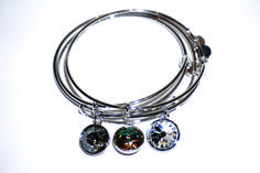 Pulsera rígida Pandora Charms, Charmed, Bracelets, Jewelry, Crystals, Bangle Bracelets, Jewlery, Jewerly, Schmuck