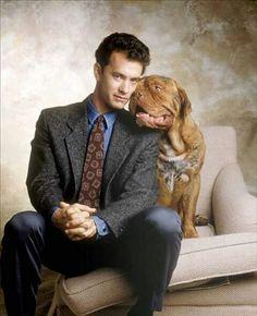 Dogue de Bordeaux [ also called the French Mastiff] with Tom Hanks Mastiff Breeds, Mastiff Puppies, Dogs And Puppies, Doggies, British Mastiff, English Mastiff, Giant Dog Breeds, Giant Dogs, Turner And Hooch