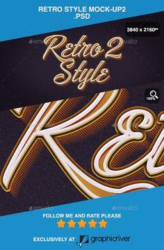 Retro Style Mock-up2 .PSD - Logo Product Mock-Ups