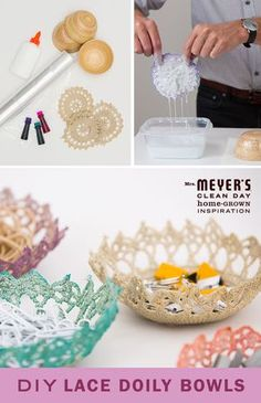 Finding vintage lace doilies is easy, and now, finding something to do with them is easy too. With this DIY project you can turn them into stylish bowls and decorative storage for jewelry or office supplies.