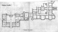 Slains Castle North Wing Plan by Harlequintessence, via Flickr