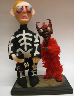 lowbrow Halloween trick or treating devil demon by mealymonster, $225.00