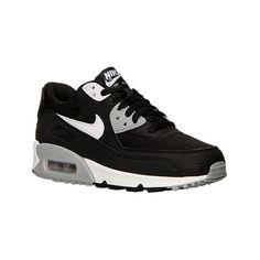 Nike Women's Air Max 90 Essential Running Shoes (3,170 THB) ❤ liked on Polyvore featuring shoes, athletic shoes, black, black running shoes, nike footwear, traction shoes, kohl shoes and athletic running shoes
