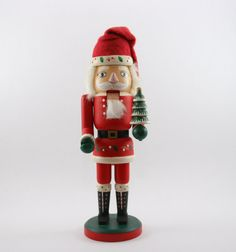 Hand-Painted Wooden Santa Clause Nutcracker - Christmas Decor - Vintage on Etsy, $25.00