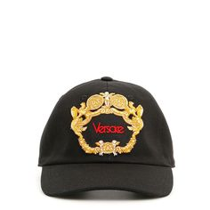 f6d2a4f663f Gold Embroidered Baseball Hat by Versace
