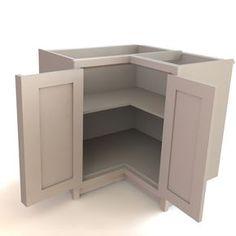 smart corner cabinet door design! - Kitchens Forum - GardenWeb. An interesting option for corner cabinets.